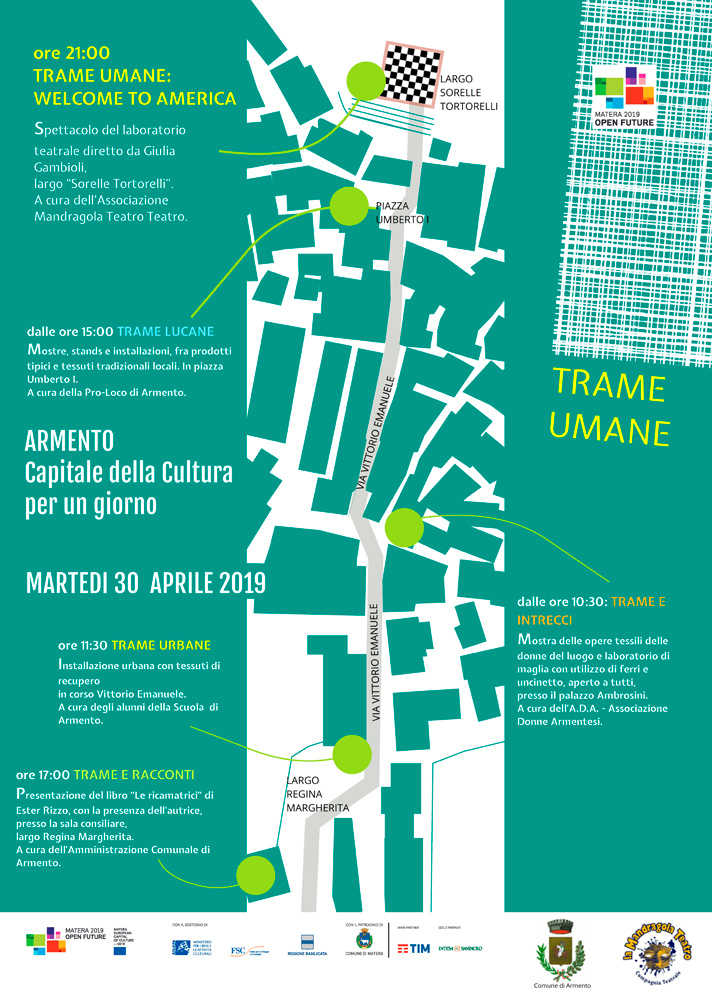 """mappa dell'evento """"Trame Umane"""""""